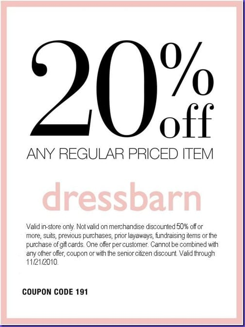dressbarn coupon 2