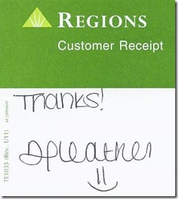 Regions Deposit Slips Smiley
