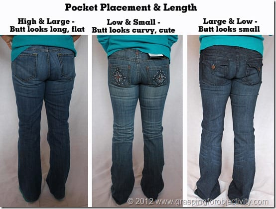 Different backpocket jeans on same person