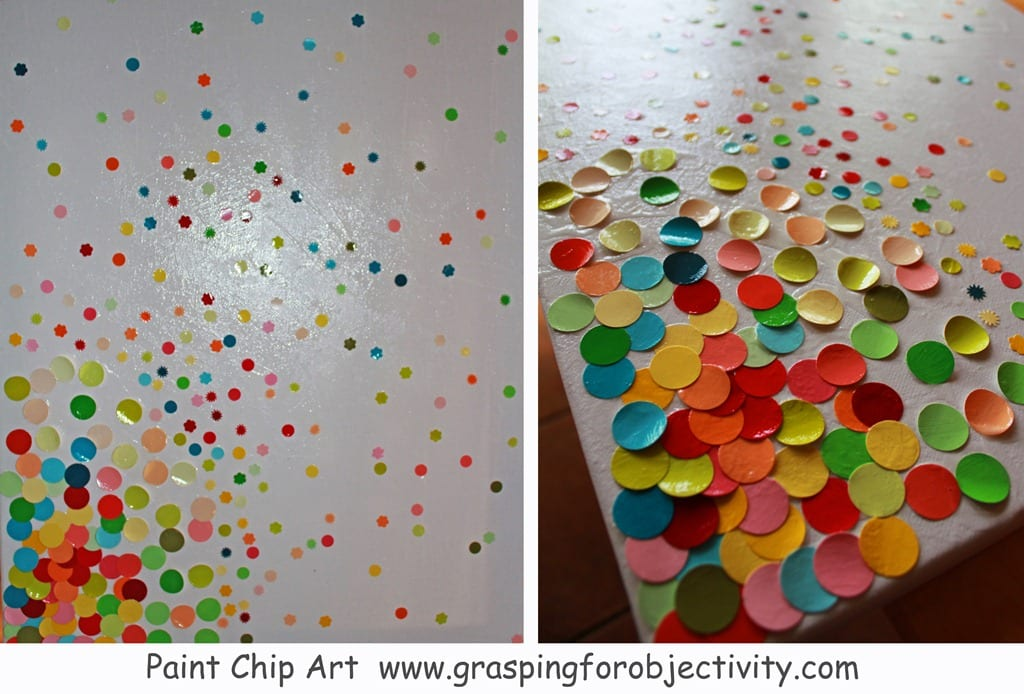 paint chip art grasping for objectivity