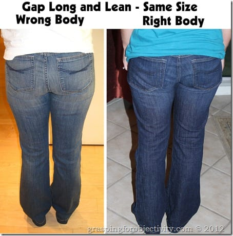 Gap Long and Lean Right and Wrong Body