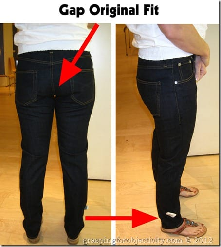 Gap Original Fit Problem Areas