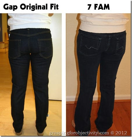 Gap Original Fit Vs 7 For All Mankind