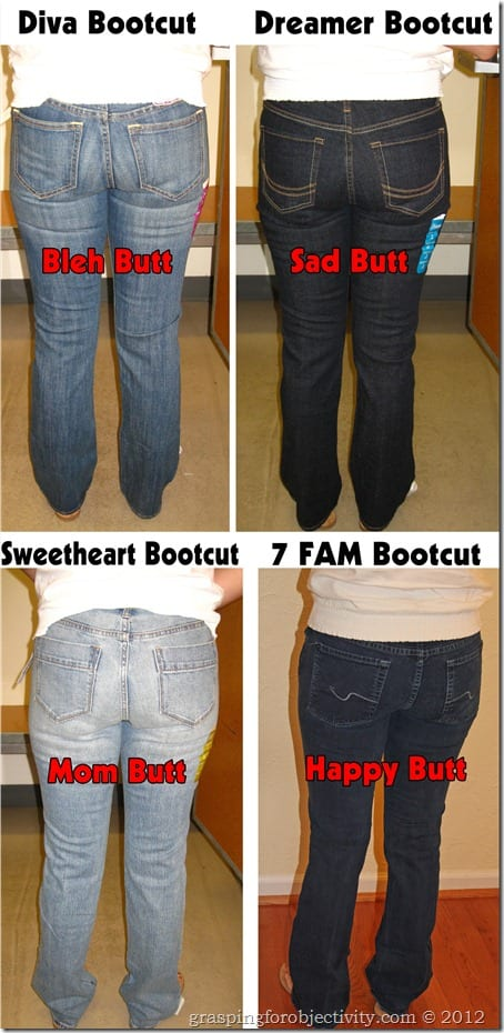 Old Navy Bootcut Comparison with 7 For All Mankind Stacked