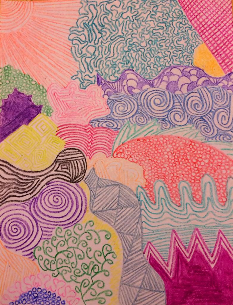 Crayolatangle - Crayon Zentangle