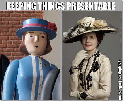 Mrs Hatt and Lady Crawley