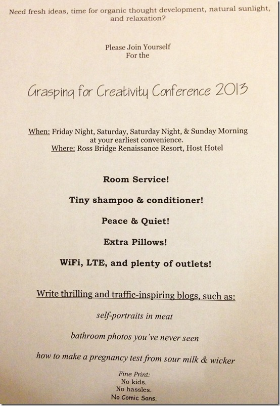 Grasping for Creativity Conference