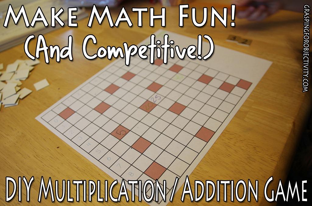 easy diy math game multiplication or addition grasping for objectivity. Black Bedroom Furniture Sets. Home Design Ideas