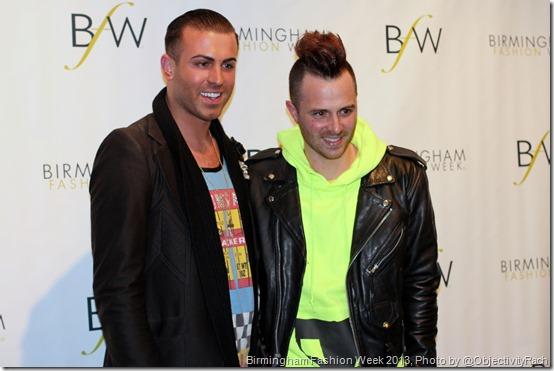 Anthony Ryan Auld and Joshua McKinley at Birmingham Fashion Week