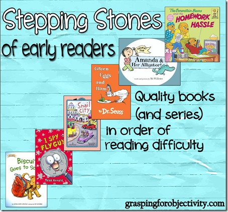 Early Readers - Good Books in order of difficulty