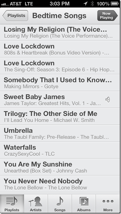 Bedtime Playlist