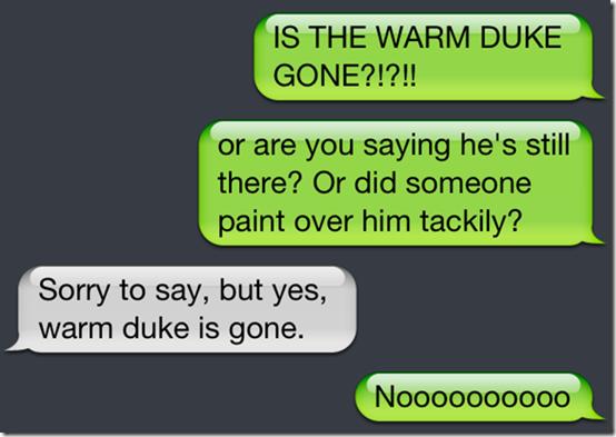 Warm Duke Demise