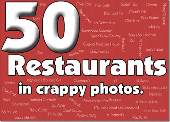 50 Restaurants in Crappy Photos