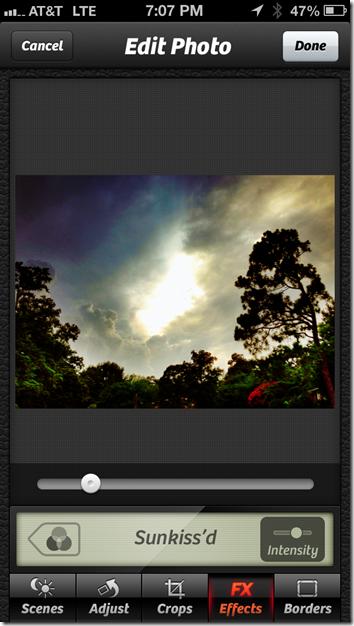 Camera  Adjustment Screenshot
