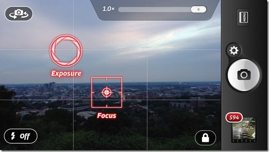 Camera  Screenshot focus