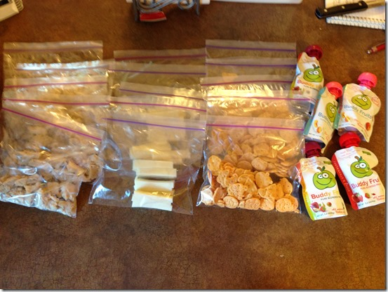 For the Kids: Underachieving Homemade Lunchables. Grilled, chopped chicken, sliced cheese, crackers, and Fruit Buddies. And they love it!