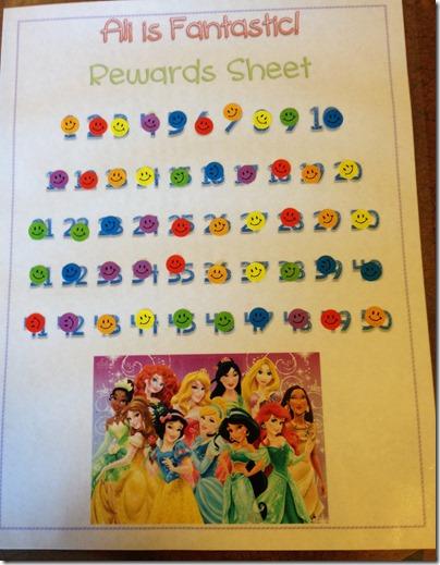 First Grade Rewards Sheet