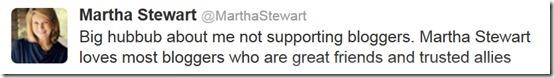 Martha Stewart Bloggers Tweets