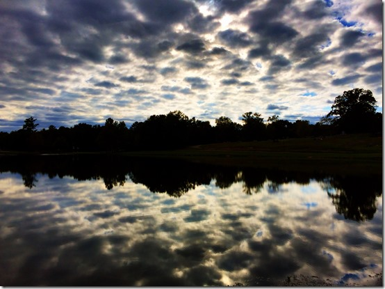 A Rorschach Test between sky and water, Helena Alabama
