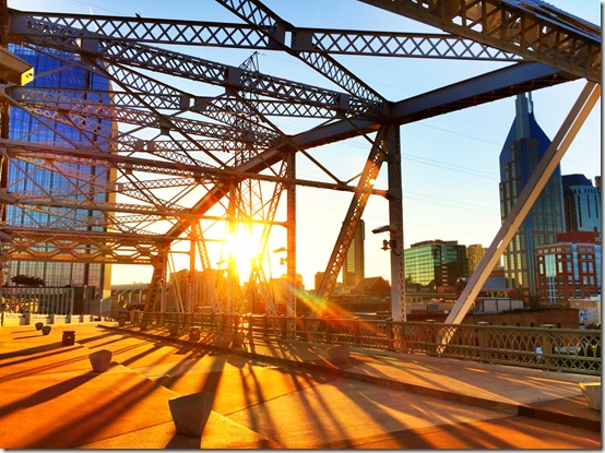 Sunset through the bridge, Nashville Tennessee