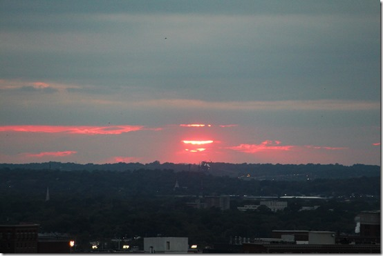 Sunset over Birmingham, Alabama