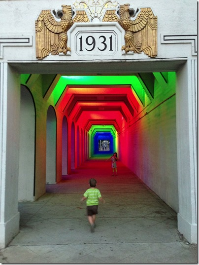 Railroad Park Tunnel Lights Installation, Birmingham Alabama