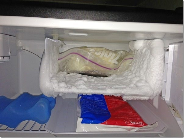 Topper Comfortable in the Freezer