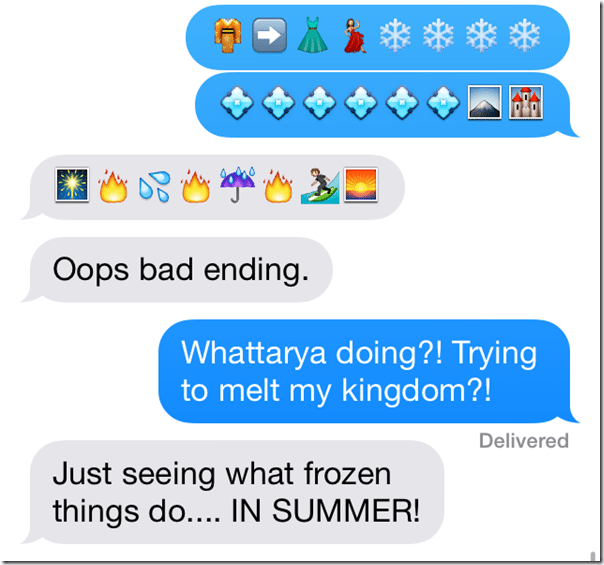 Frozen Text Two