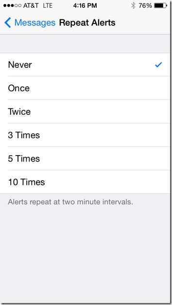 iPhone Alert Repeats