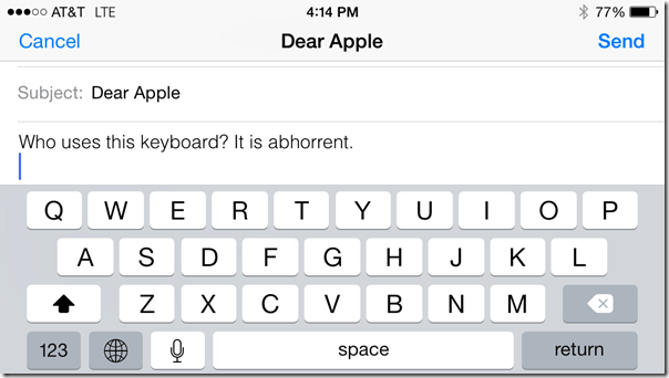 iPhone Horizontal Keyboard