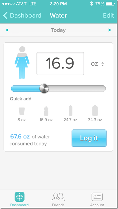 FitBit Water Tracking