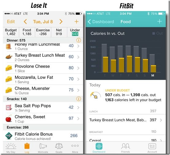Lose It Compared to FitBit