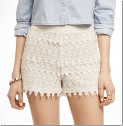 Doilies as Shorts