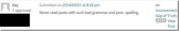 Comment Grammar