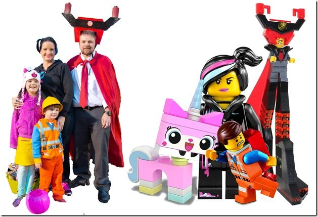 Family Photo with Lego Movie Characters