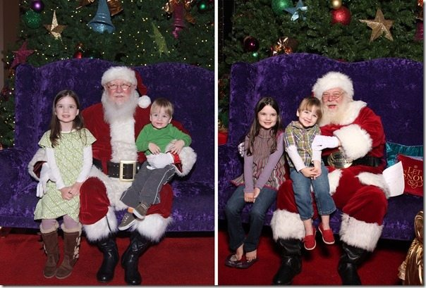 Santa Pictures Year to Year