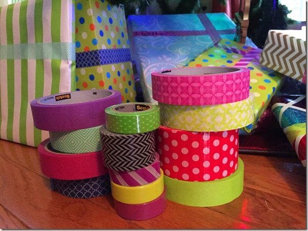 Scotch Washi Tape on Presents