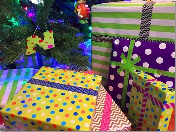 Washi Tape on Presents