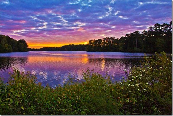 140926 A Moody Sunset at Callaway Gardens