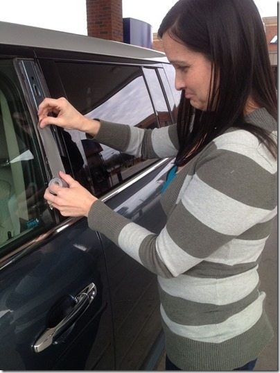 Me Fixing Car with Duct Tape