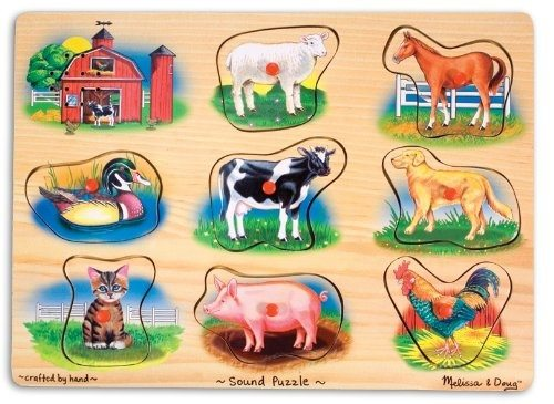 Melissa and Doug Animal Sounds Puzzle