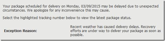 Chukar UPS Delay 2