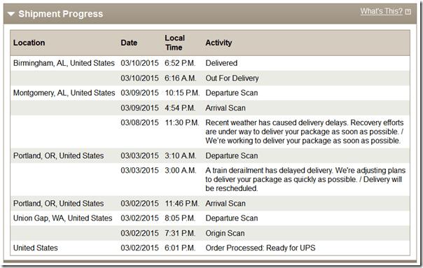 Chukar UPS Delay 3