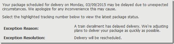 Chukar UPS Delay
