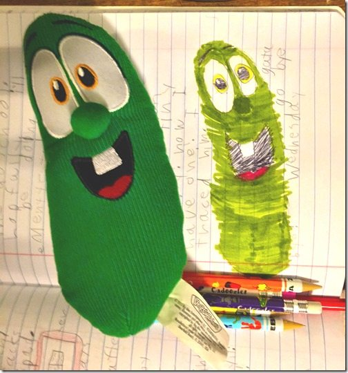 Larry the Cucumber Drawing