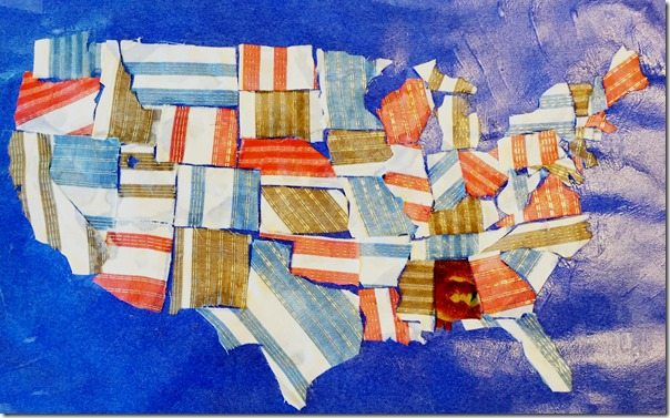 United States Map Fabric Craft
