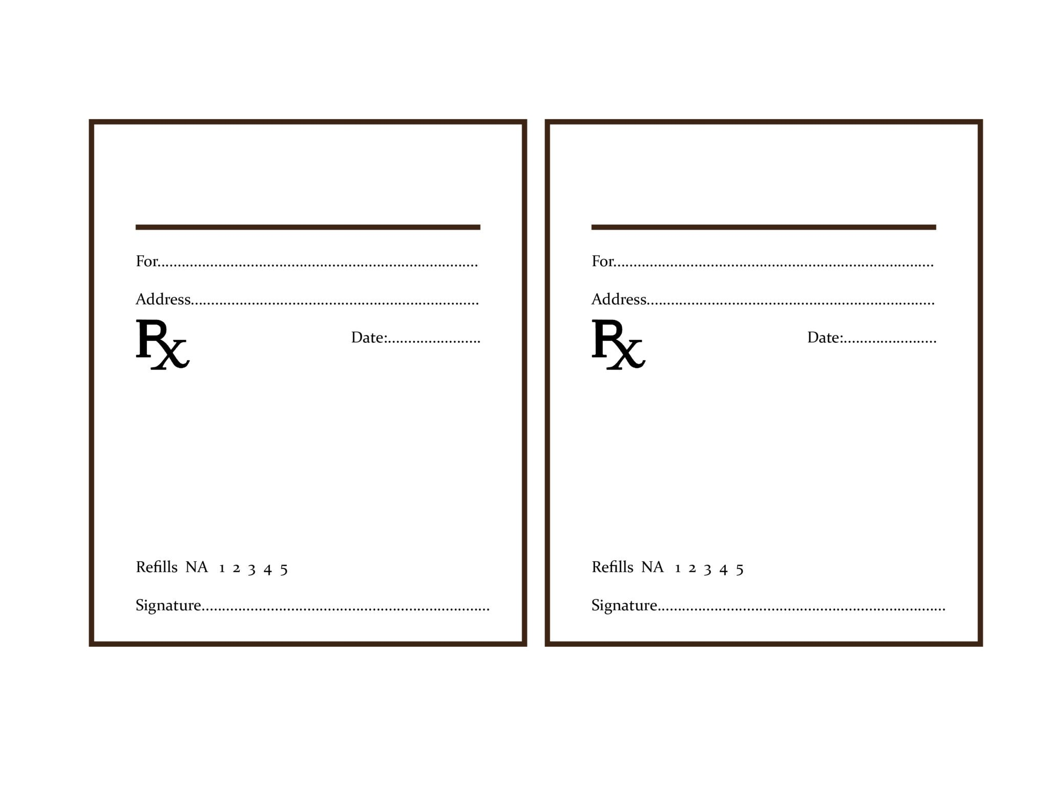 image gallery prescription template With template for prescription pad